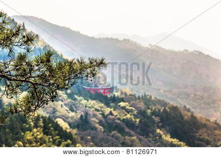 Japanese Mountain Scene
