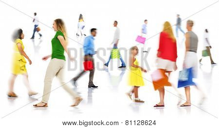 Community Ethnicity Casual People Shopping Spending Concept
