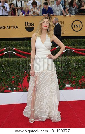 LOS ANGELES - JAN 25:  Laura Carmichael at the 2015 Screen Actor Guild Awards at the Shrine Auditorium on January 25, 2015 in Los Angeles, CA