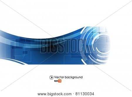 Blue and white vector abstract engineering technology background