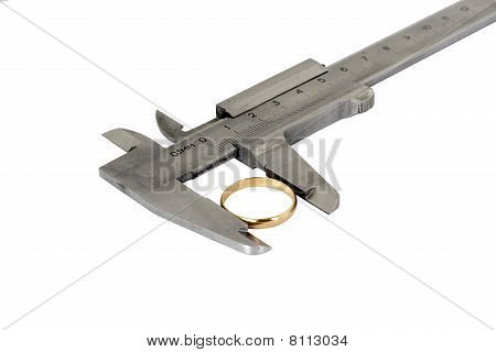 Caliper With Wedding Ring