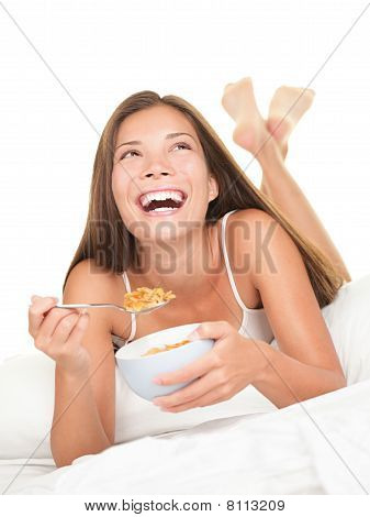 Breakfast In Bed Woman