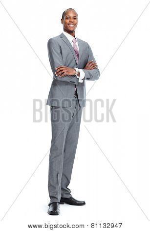 African-American Businessman isolated on white background
