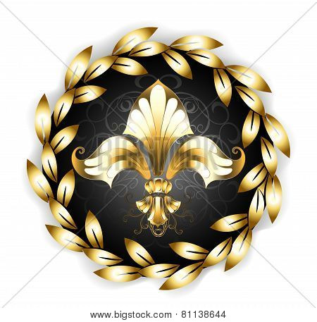 Gold Fleur-de-lis With A Laurel Wreath