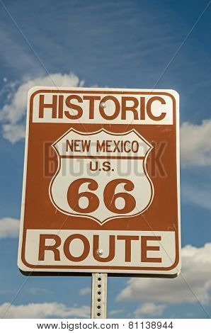 New Mexico Route 66 Sign