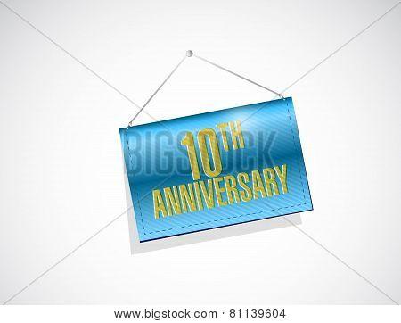 20Th Anniversary Hanging Sign Illustration Design