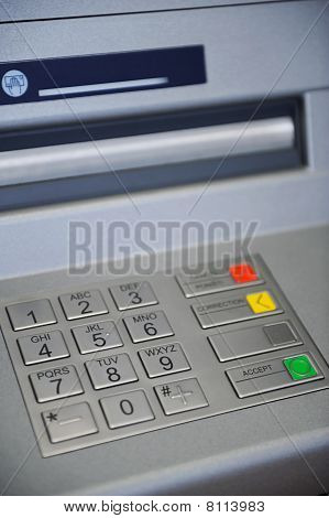 ATM Machine keyboard
