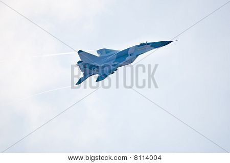 Zhukovskiy, Russia - 22 August, 2009: Military Airplane Su 27 At