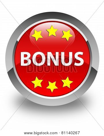 Bonus Glossy Red Round Button