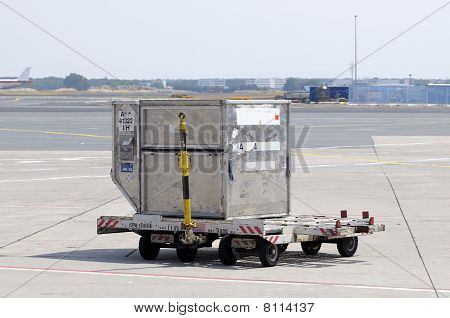 Cargo Container At Airport
