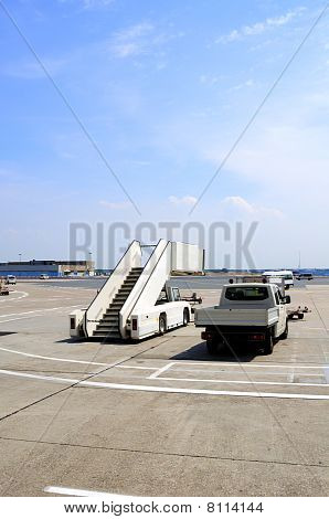 Airport Taxiway And Van