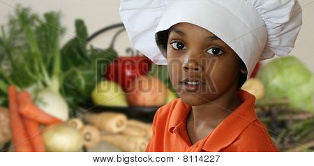 Pre-School Chef With Vegetables