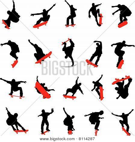 20 Skateboarder Poses