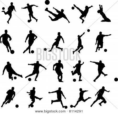 20 Dynamic Soccer Poses