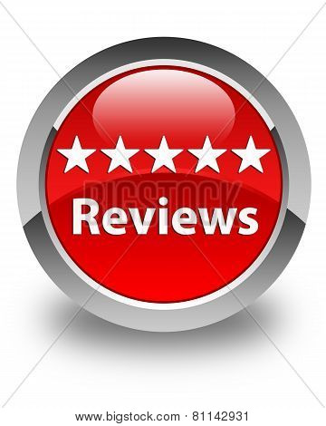 Reviews Glossy Red Round Button