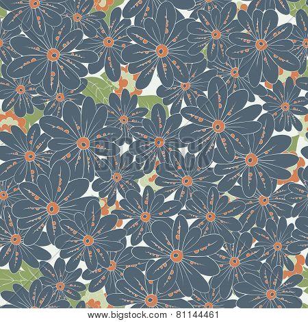 elegant vintage floral seamless pattern