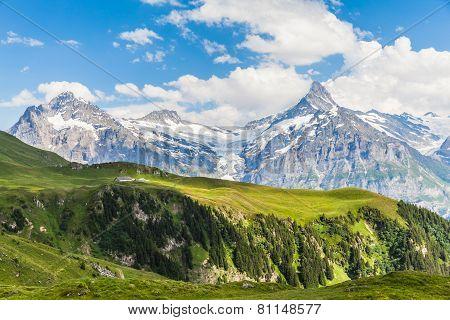 View Of Schreckhorn, Swiss Alps