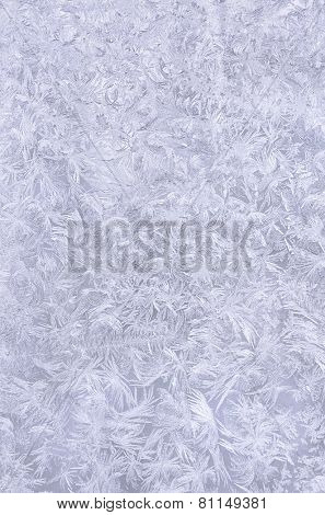 Real snowflake background. Beautiful frozen pattern.