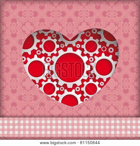 Heart Hole Gears Ornaments