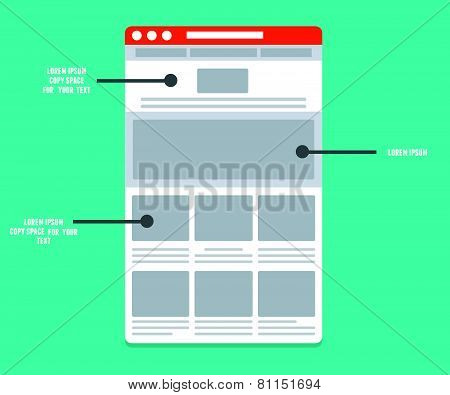 Wireframe - Information Structure And Description Of The User's Interaction With The Interface