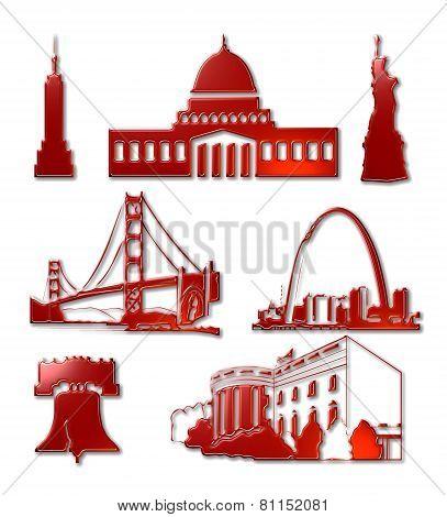 US Landmark Icons