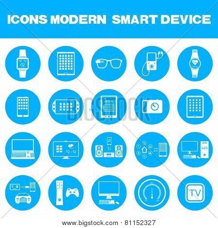 Vector Illustration Of Modern Smart Devices