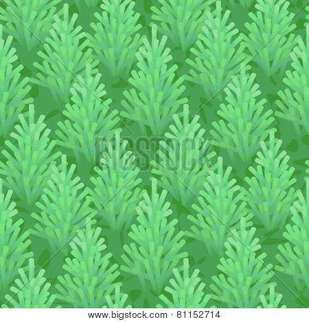 green fir wood seamless