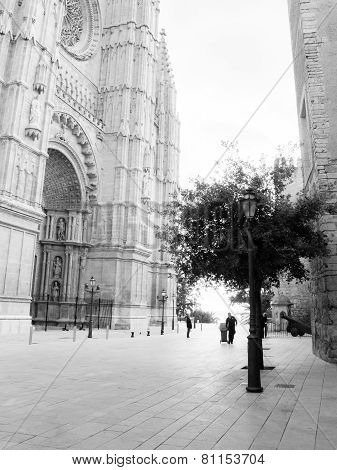 Street outside the cathedral La Seu