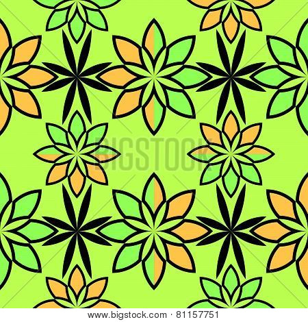 Flowers Abstract Geometric Pattern