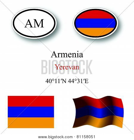 Armenia Icons Set