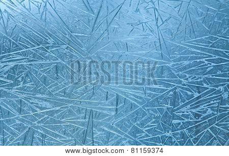 Frozen Glass. Ice Flowers. Frost Flowers. Window Frost. Winter In The Window. Frozen Window. Macro.