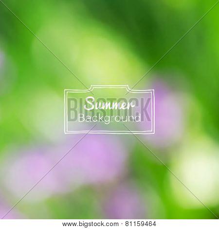 Vector blurred nature summer green background