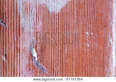 Old Wood Texture With Traces Of Abrasions, Aging, Scratches And Paint
