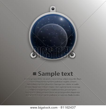 Spaceship window. Vector