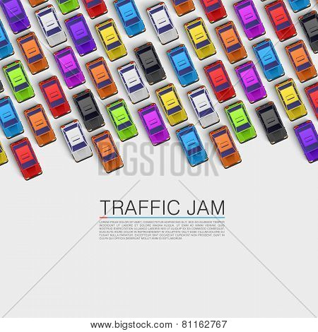 Traffic jam on the road