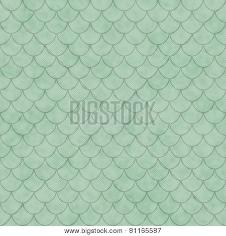 Green Shell Tiles Pattern Repeat Background