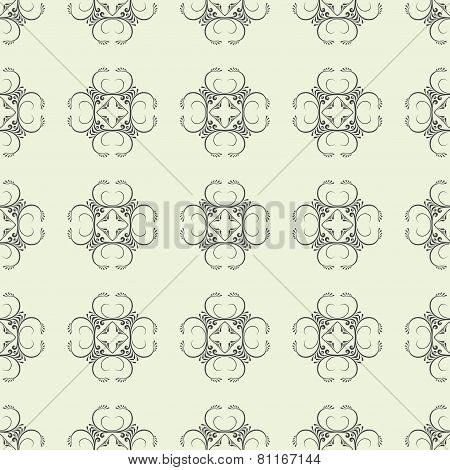 Abstract Seamless Background With Ornament
