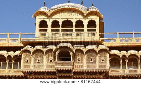 Haveli-private mansion in India. Jaisalmer city