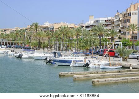 Harbor view in Port de Alcudia Mallorca