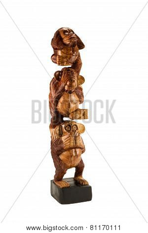 Statuette of three monkeys