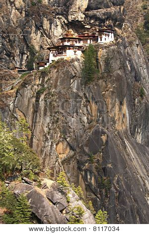 Tiger's nest monastery situated high on a hill