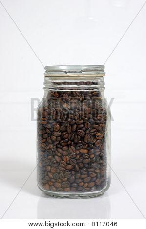 Coffee Bean Inside Glass Jar