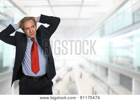 worried businessman at the office