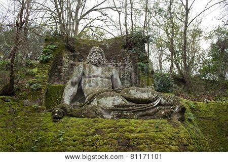Neptune, Bomarzo Gardens, Italy