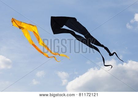 Kites in the blue sky