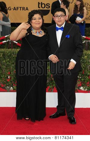 LOS ANGELES - JAN 25:  Raini Rodriguez, Rico Rodriguez at the 2015 Screen Actor Guild Awards at the Shrine Auditorium on January 25, 2015 in Los Angeles, CA