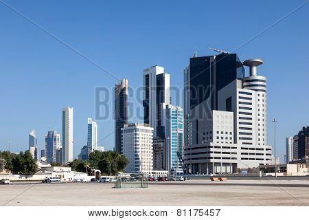 Buildings Downtown In Kuwait