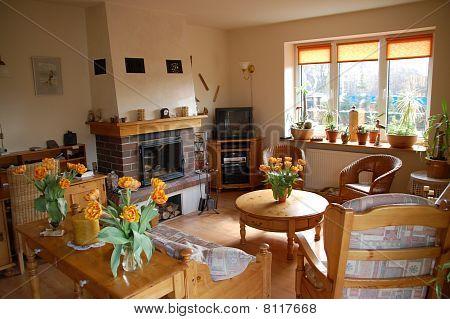 Interior of a modern European house