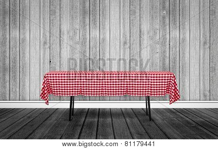 Table With A Tablecloth