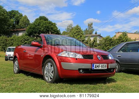Red Renault Megane Cabriolet Car At Summer